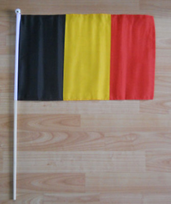 Belgium Country Hand Flag - large