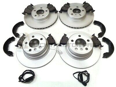 BMW X5 E53 3.0i 3.0D DIESEL 4.4 FRONT & REAR BRAKE DISCS & PADS SHOES + SENSORS