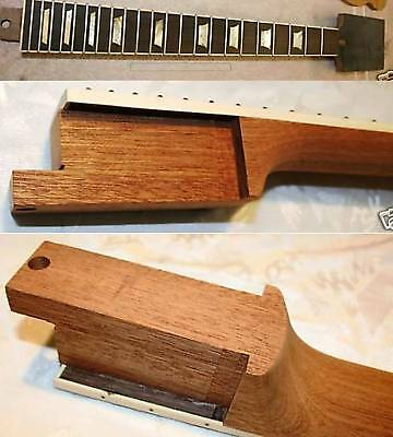 Les Paul Tenon neck Hals Crown Inlays Gitarrenbau