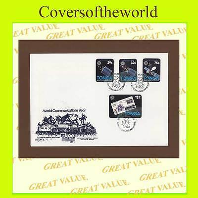Tonga 1983 World Communications Year set First Day Cover