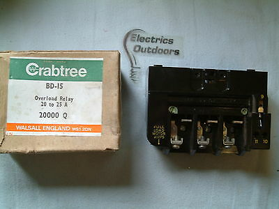 Crabtree Overload Relay 20 To 25 Amp 20000 Q Bd-15