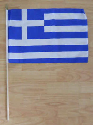 Greece Country Hand Flag - large