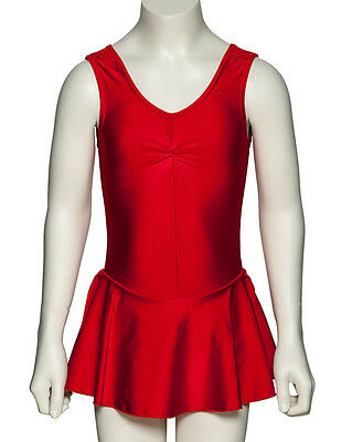 Nylon Lycra Ballet Dance Leotard With Skirt All Colours & Sizes KDR005 By Katz