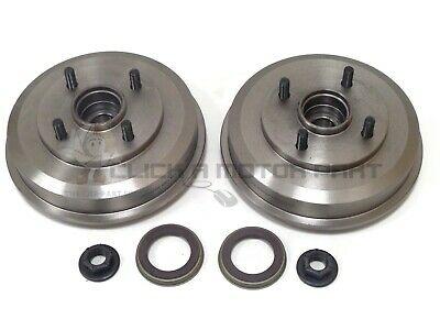 Ford Focus Mk1 98-04 Rear 2 Brake Drums + 2 Fitted Wheel Bearings & 2 Abs Rings