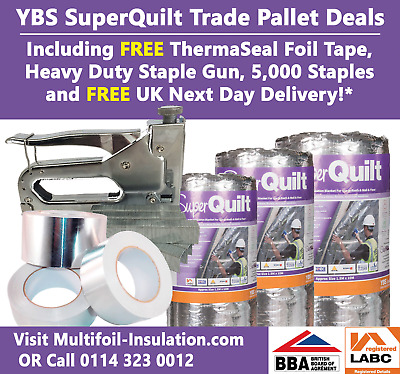 SuperQuilt 19 Multifoil Insulation Complete Trade Kit Pallet Delivered Anywhere*