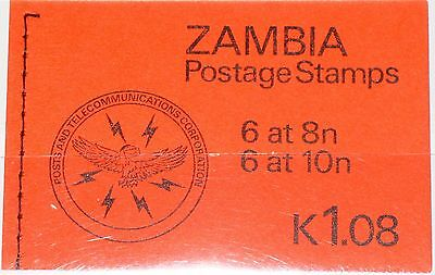 ZAMBIA SAMBIA 1981 252 253 MH Booklet Traditional Life Scenes Definitives MNH