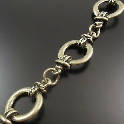 32421 Antique Style Bronze Tone Alloy Round Link Chain Jewelry Finding 90cm