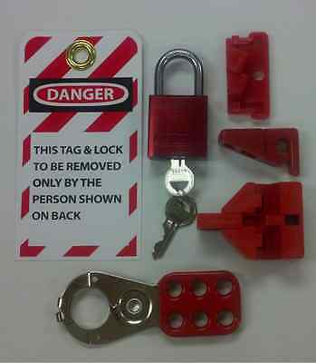 6-Piece Personal Lockout / Tagout Kit Loto