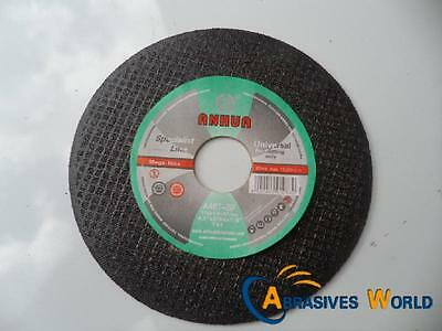 "100 X 115mm 4.5"" X 1mm X22mm ANHUA CUTTING DISCS WHEELS FOR ALL METAT CUTTING"