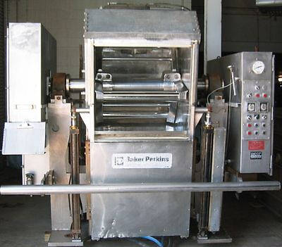 Baker Perkins model 069, 1,200#, 3 roller bar dough mixer, 37.5/75 hp, 230 volt