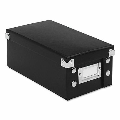 Snap 'N Store Collapsible Index Card File Box 3 x 5 Cards, Black