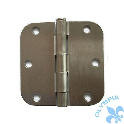 "Lot of 12 Satin Nickel Door Hinge 3.5"" With 5/8"" Radius"