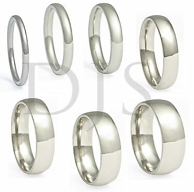 316L Stainless Steel Ring Plain Wedding Band  Men & Women