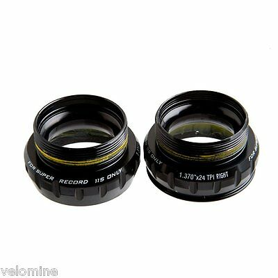 NEW Campagnolo Super Record Ultra-Torque Bottom Bracket Cups English