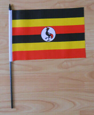 Uganda Country Hand Flag - medium