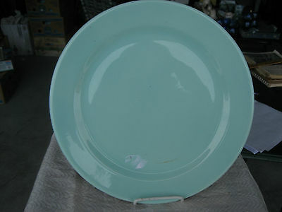 """Fantastic Luray 14 1/8"""" Green Chop Plate Stained"""