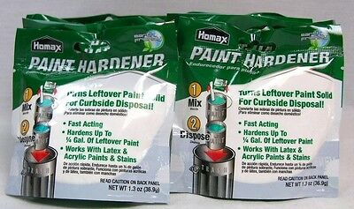 Lot Of 12 Homax Paint Hardener 1.3Oz Turns Leftover Paint Solid For Disposal A11