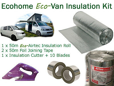 Thermawrap Airtec Double Foil Insulation Kit, VW: LT T2 T4 T5 Crafter Caravelle