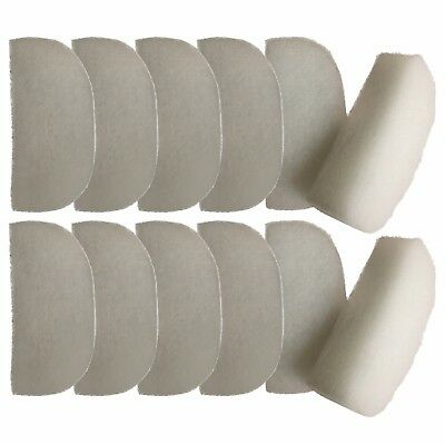 12 Compatible Polishing Filter Pads Suitable For Fluval 104 105 106 204 205 206