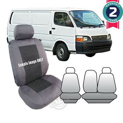Toyota Hiace Van 1990-Feb/2005 Charcoal Grey Custom Fit Seat Covers Front Set