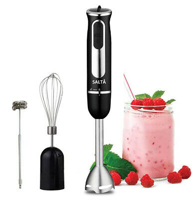 New 800W Stainless Salta Portable Stick Hand Blender Mixer Food Beater Free Post