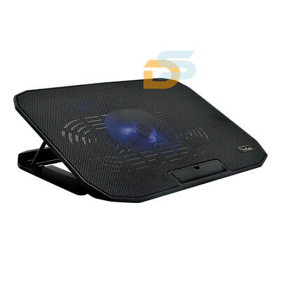 "Supporto Pc Portatile Notebook Da 10.1"" A 17"" Ventola Raffreddamento Cooler Pad"