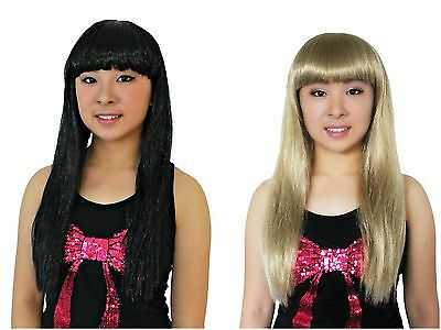 Prime Quality Black Blonde Cleopatra Long Straight Costume Wigs Fancy Dress