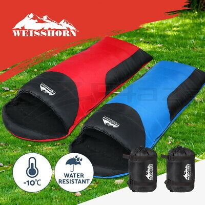 Double Camping Envelope Twin Sleeping Bags Thermal Hiking Winter Compact -10°C