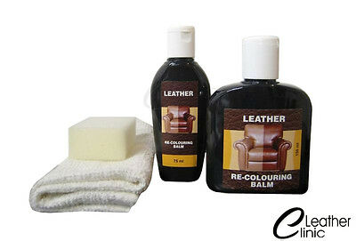 Leather Colour Restorer. Leather Sofa Chair SMELL OF LEATHER 19 colours ! !