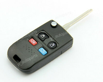 4 Buttons Remote Flip Folding Uncut Blank Key Shell Case Cover For Ford 4BT 4B