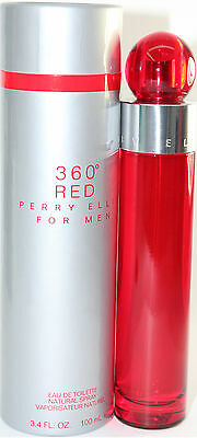 360 RED FOR MEN 3.4 OZ EDT SPRAY NEW IN A BOX BY PERRY ELLIS