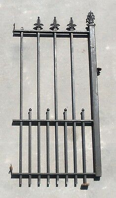 """Iron Fence Gate Panel Trellis 9 Post, With Finials 63 1/2"""" H X 31"""" W"""