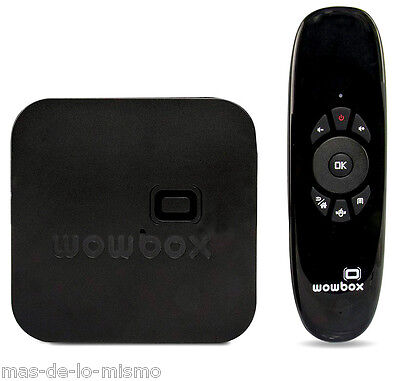 Android SmartTV WowBox Reproductor Multimedia Quad Core 8GB HDMI WiFi + AirMouse