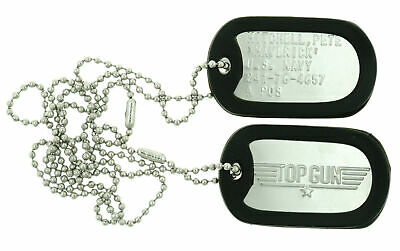 Top Gun MAVERICK  Military Stainless Steel Dog Tag Set Prop Halloween Costume