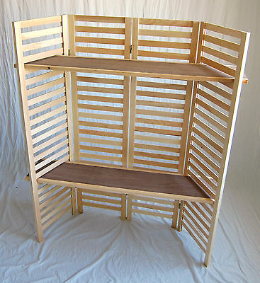 """Panel Display, 4 Section Unit 58"""" Tall - (2) Shelves"""