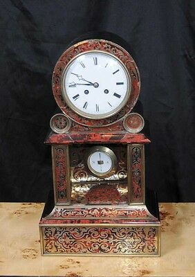 Antique Boulle Inlay French Mantel Clock