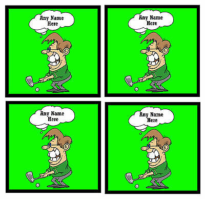 Golf - Funny Personalised Set Of 4 Fun Coasters - Gift/ Present - Brand New