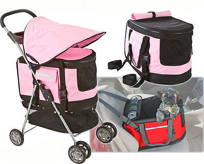 Valentina Valentti  Pet Stroller, Pushchair For Pets In Pink Colour