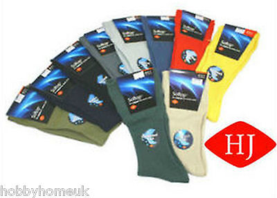 Mens Socks Cotton Soft Top Softop Hj Hall Hj91 Black Oatmeal Olive Guaranteed