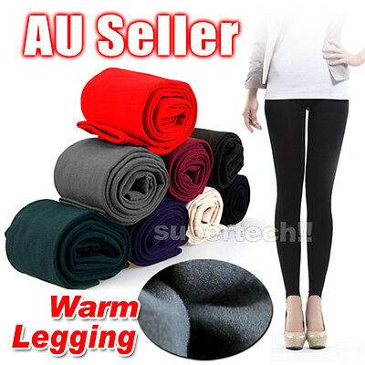 New Women's Winter Thick Warm Footless Slim Stretch Leggings Skinny Pants Cotton
