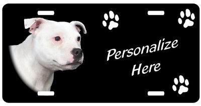 Staffordshire Bull Terrier  #2   Personalized  Plate