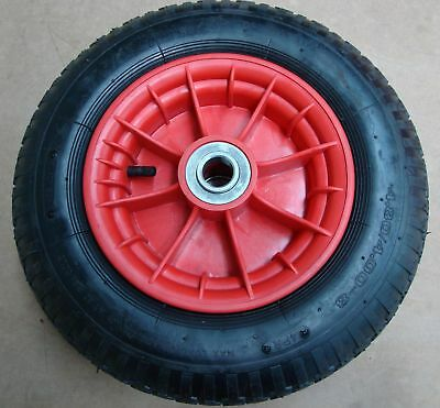 "16""  WHEELBARROW CART Trolley WHEEL 4.00 x 8,  PLASTIC RIM"