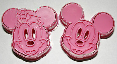 Set of 2 Mickey & Minnie Plunger Cutters, Sugarcraft, Cake Decorating
