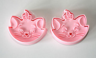 Marie Cat Plunger Cutters Set of 2, Sugarcraft, Cake Decorating
