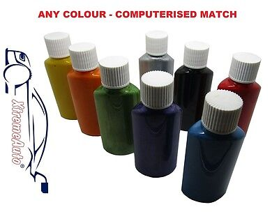 Touch Up Paint MIXED TO CODE RED BLUE GREEN YELLOW BLACK GREY SILVER PAINT