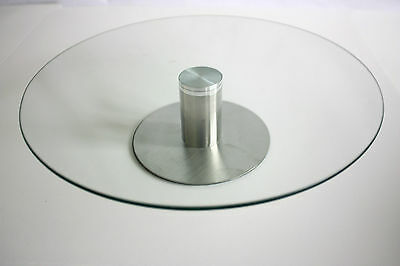 Glass Turntable for Cake Decorating, Sugarcraft, Baking, Display