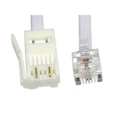 2m RJ11 to BT Modem Cable Telephone Phone LEAD Plug BT Socket 2 PIN
