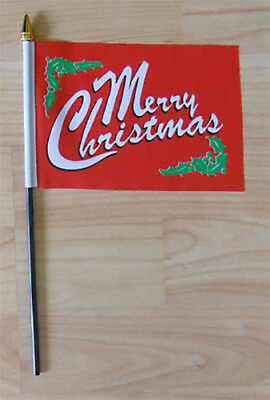 Merry Christmas Hand Flag - small