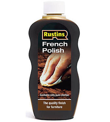 Rustins Traditional French Polish 300ml Suitable For Light and Dark Wood