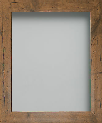 Rustic or Dark Oak Wood Effect Picture Photo Frames Fitted With Glass